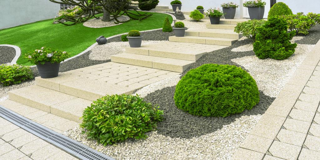 living color garden center design a gracefully modern garden monochromatic shrubs white flowers