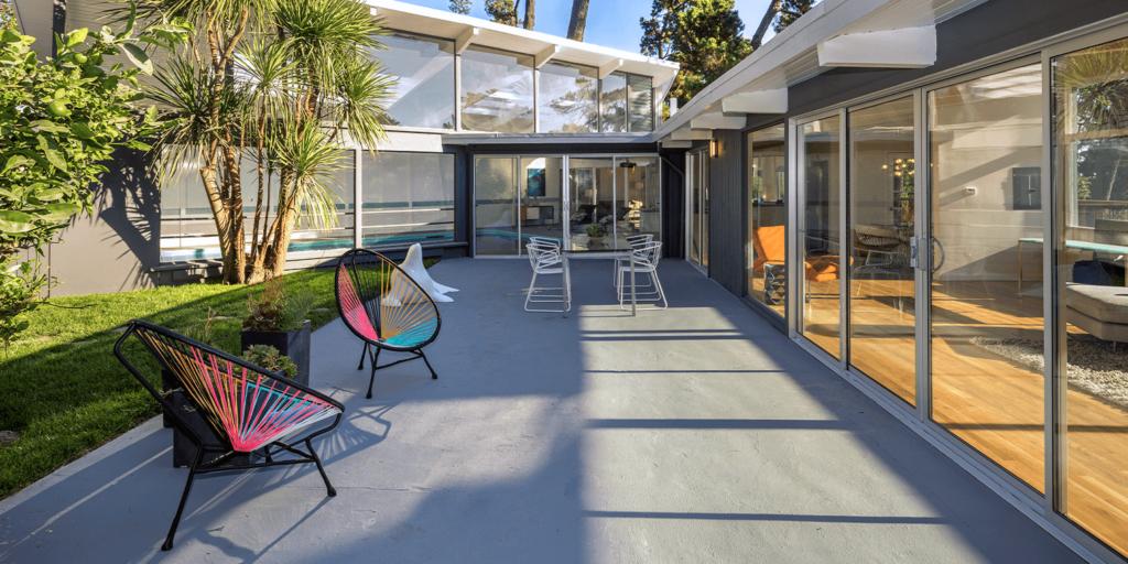 living color garden center design a gracefully modern garden tropical patio mid century modern chairs