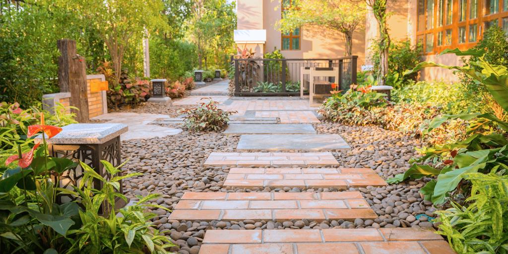 living color garden center goodbye lawn new landscape tropical rock paving stones