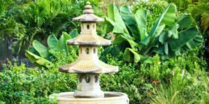pagoda style water feature